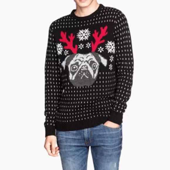 5c01c7c2319f H&M Sweaters | Hm Divided Pug Ugly Christmas Holiday Sweater | Poshmark